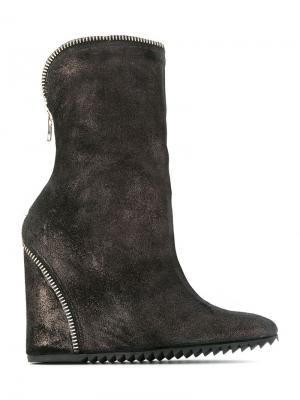 Wedge boots Uma | Raquel Davidowicz. Цвет: коричневый