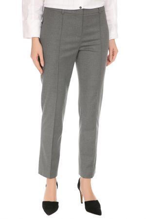 Прямые брюки со шлевкой на поясе Caterina Leman. Цвет: серый