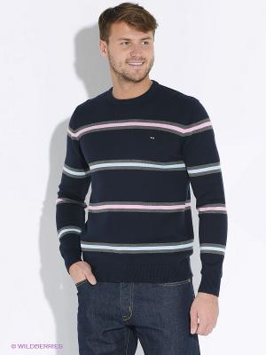 Пуловер Eden Park. Цвет: темно-синий, голубой, розовый