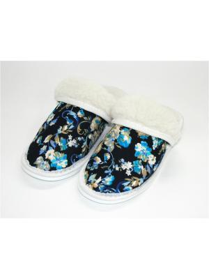 Тапочки Тефия. Цвет: темно-синий, белый, голубой