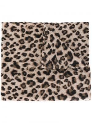 Топ с леопардовым принтом Steffen Schraut. Цвет: телесный