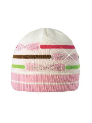 Шапка Kolad. Цвет: салатовый, бледно-розовый, бордовый