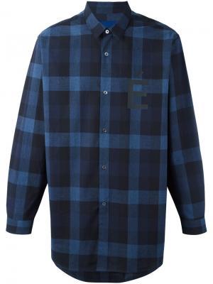 Рубашка в клетку Études. Цвет: синий