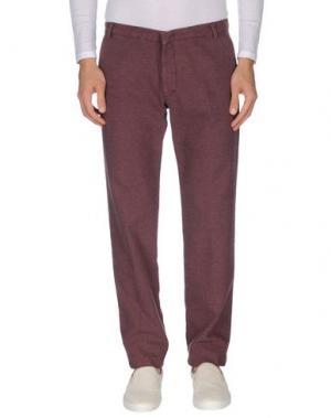 Повседневные брюки GABARDINE. Цвет: баклажанный