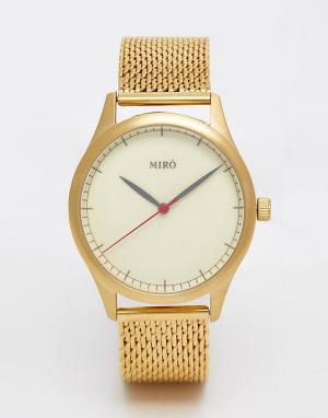 Miro Часы с браслетом из золотистой нержавеющей стали. Цвет: золотой