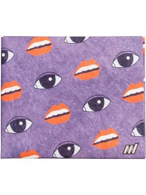 New Lipseyes wallet. Цвет: фиолетовый