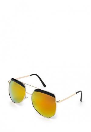 Очки солнцезащитные Kawaii Factory. Цвет: золотой