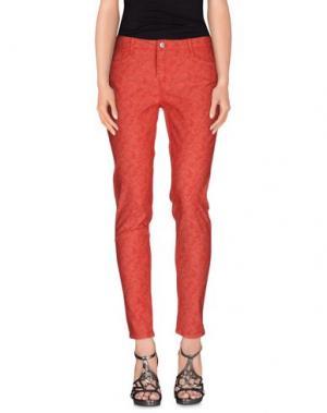 Джинсовые брюки BLEULAB. Цвет: красный