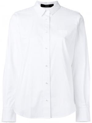 Рубашка с кружевом Steffen Schraut. Цвет: белый