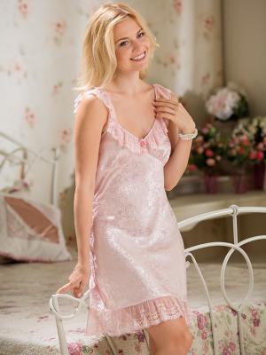 Сорочка MIA-AMORE. Цвет: бледно-розовый