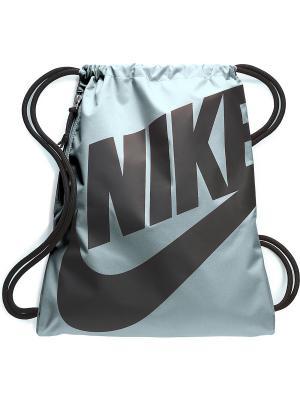 Мешок для обуви NIKE HERITAGE GYMSACK. Цвет: серо-голубой