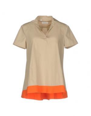 Блузка BARBA Napoli. Цвет: бежевый