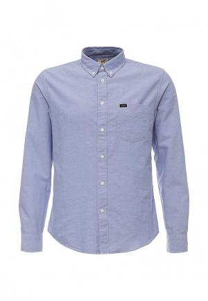 Рубашка Lee. Цвет: голубой