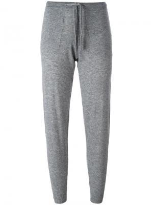 Спортивные брюки на шнурке Allude. Цвет: серый