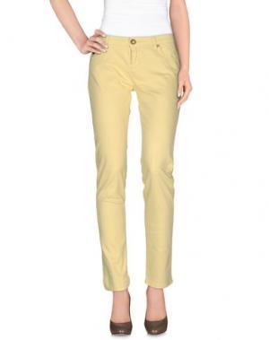 Повседневные брюки DUCK FARM. Цвет: желтый
