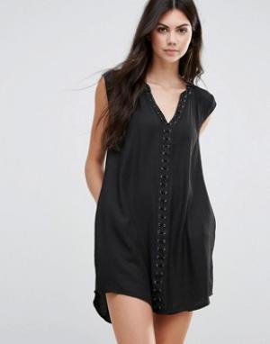 Greylin Платье Dezza Grommet. Цвет: черный