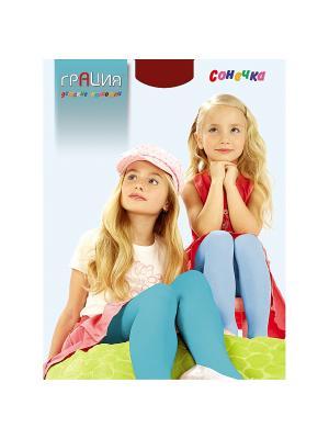 Колготки детские Сонечка Грация. Цвет: бордовый