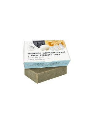 Мыло с грязью Сакского озера Антицеллюлит 100 гр Мануфактура Дом Природы. Цвет: светло-серый