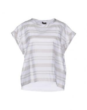 Блузка PESERICO. Цвет: белый