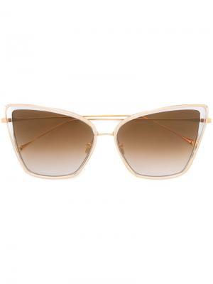 Солнцезащитные очки Dita Eyewear. Цвет: металлический