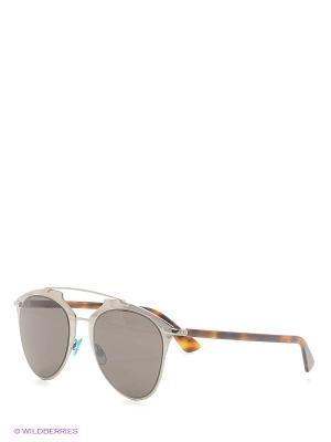 Солнцезащитные очки CHRISTIAN DIOR. Цвет: коричневый, серебристый
