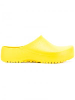 Лоферы-шлепанцы Birkenstock. Цвет: жёлтый и оранжевый