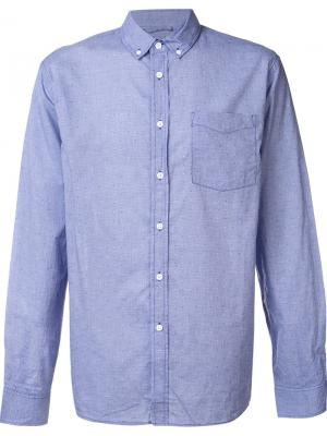 Классическая рубашка на пуговицах Saturdays Surf Nyc. Цвет: синий