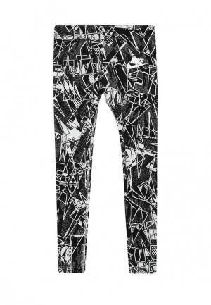 Леггинсы Nike. Цвет: черно-белый