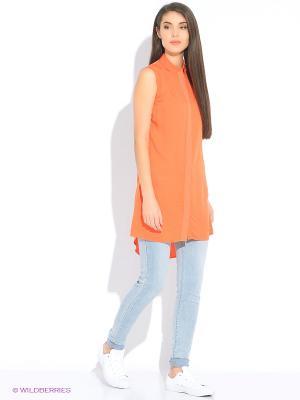 Блузка Calvin Klein. Цвет: оранжевый