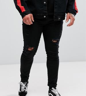 Sixth June Super Skinny Jeans In Black With Distressing exclusive to A. Цвет: черный