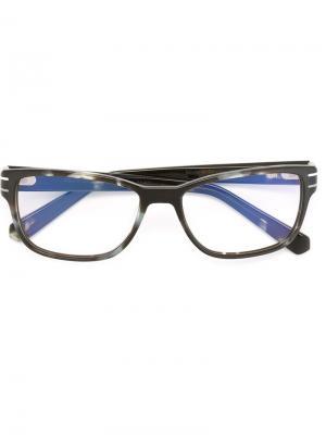Оптические очки в прямоугольной оправе Tag Heuer. Цвет: серый