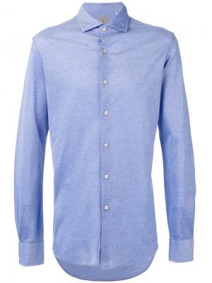 Slim-fit shirt Xacus. Цвет: синий