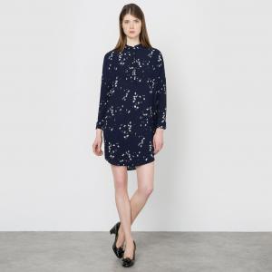 Платье с принтом Caline SUNCOO. Цвет: темно-синий/рисунок