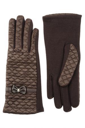 Перчатки Stella. Цвет: коричневый