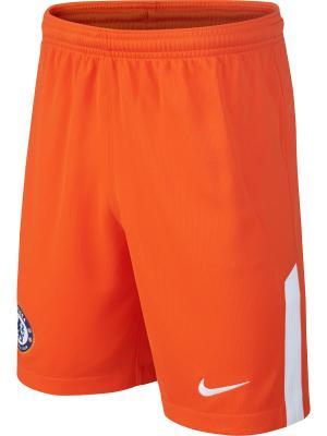 Шорты CFC Y NK BRT STAD SHORT GK Nike. Цвет: оранжевый, белый