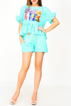 Блуза Majaly. Цвет: ментоловый