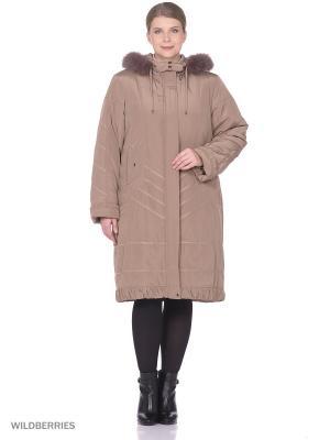 Пальто VIKO. Цвет: светло-коричневый
