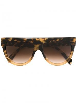 Солнцезащитные очки Shadow Céline Eyewear. Цвет: коричневый