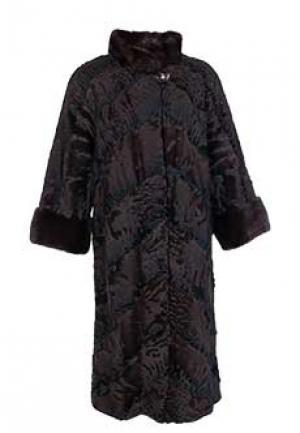 Меховое пальто каракуль BELLINI. Цвет: коричневый