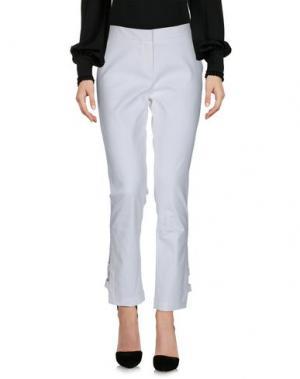 Повседневные брюки LALA BERLIN. Цвет: белый