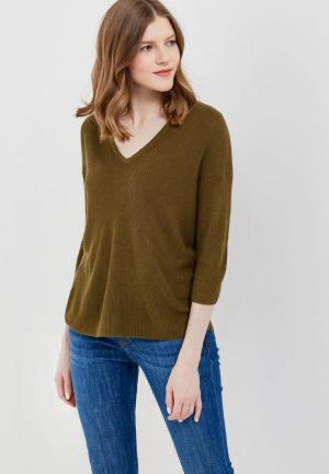 Пуловер Mango. Цвет: хаки