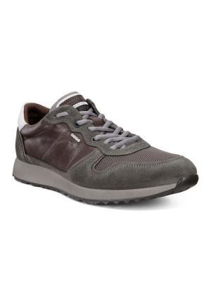 Кроссовки ECCO. Цвет: серый, темно-коричневый