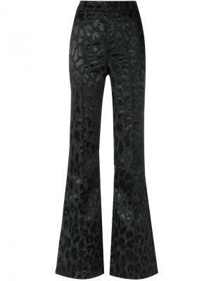 Расклешенные брюки с анималистическим принтом Tufi Duek. Цвет: чёрный