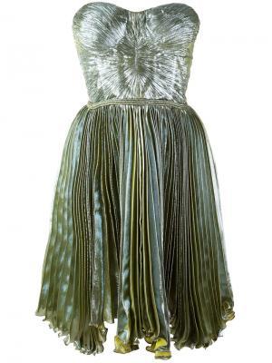 Платье Loliambrosia с плиссировкой Maria Lucia Hohan. Цвет: зелёный