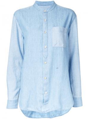 Джинсовая рубашка с воротником-мандарин Closed. Цвет: синий