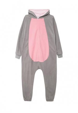 Пижама-комбинезон HandyWear. Цвет: серый