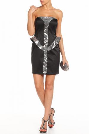 Платье Aftershock. Цвет: черный, серебро