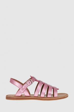 Кожные сандалии Pom D'Api. Цвет: фуксия