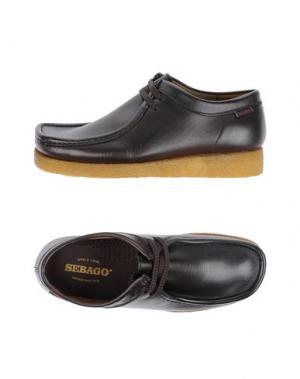 Обувь на шнурках SEBAGO. Цвет: темно-коричневый