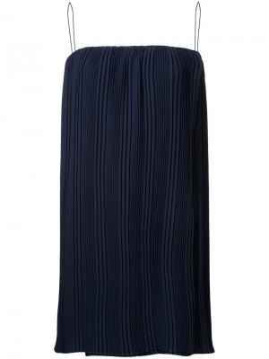 Плиссированная блузка Dion Lee. Цвет: синий